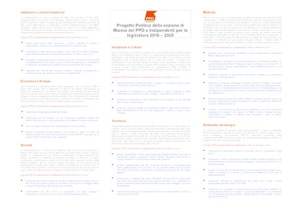 Programma completo 2016-2020